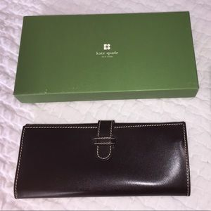 Kate Spade smooth Katy leather jewelry roll wallet